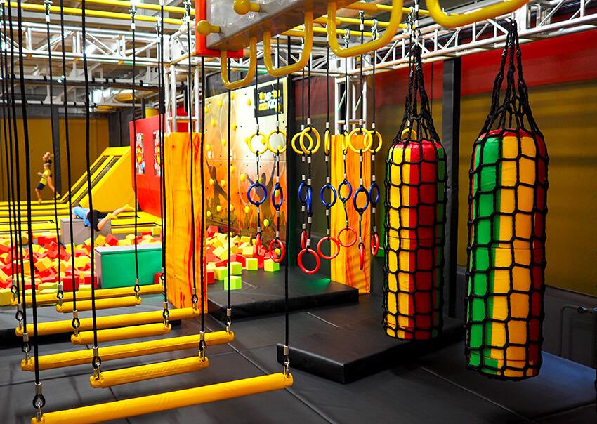 Ninja cesta Jump aréna Tábor Sezimovo Ústí