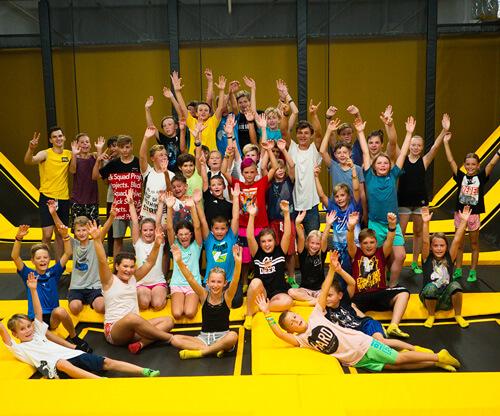 Školní skupiny v Jump and Kids Aréně Tábor